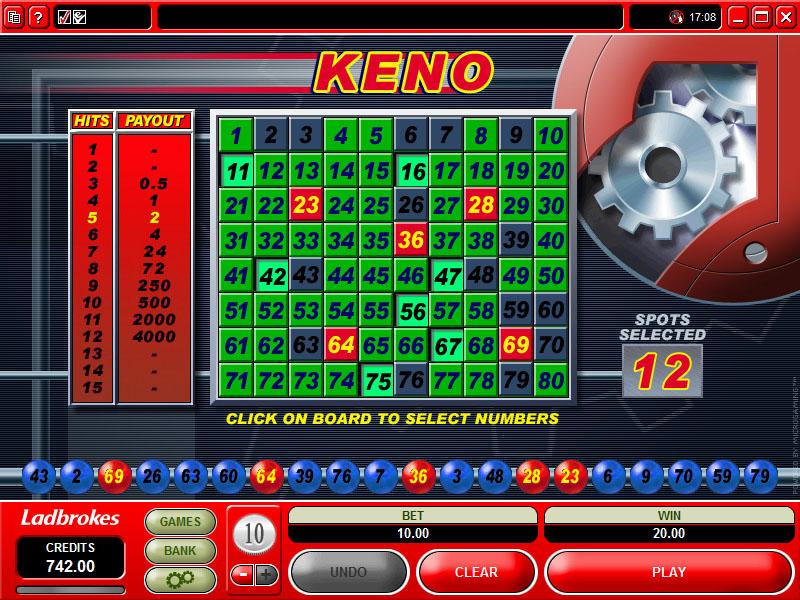 Free keno casino games online